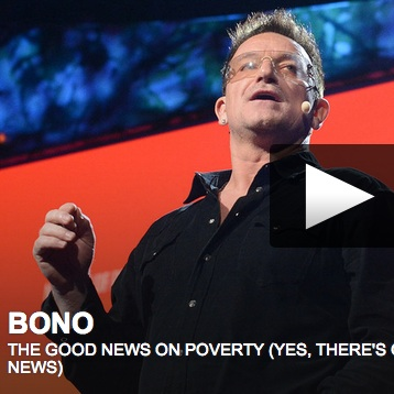 Deeply moving & inspiring: Bono's TED2013 talk: The good news on poverty (Yes, there's good news)